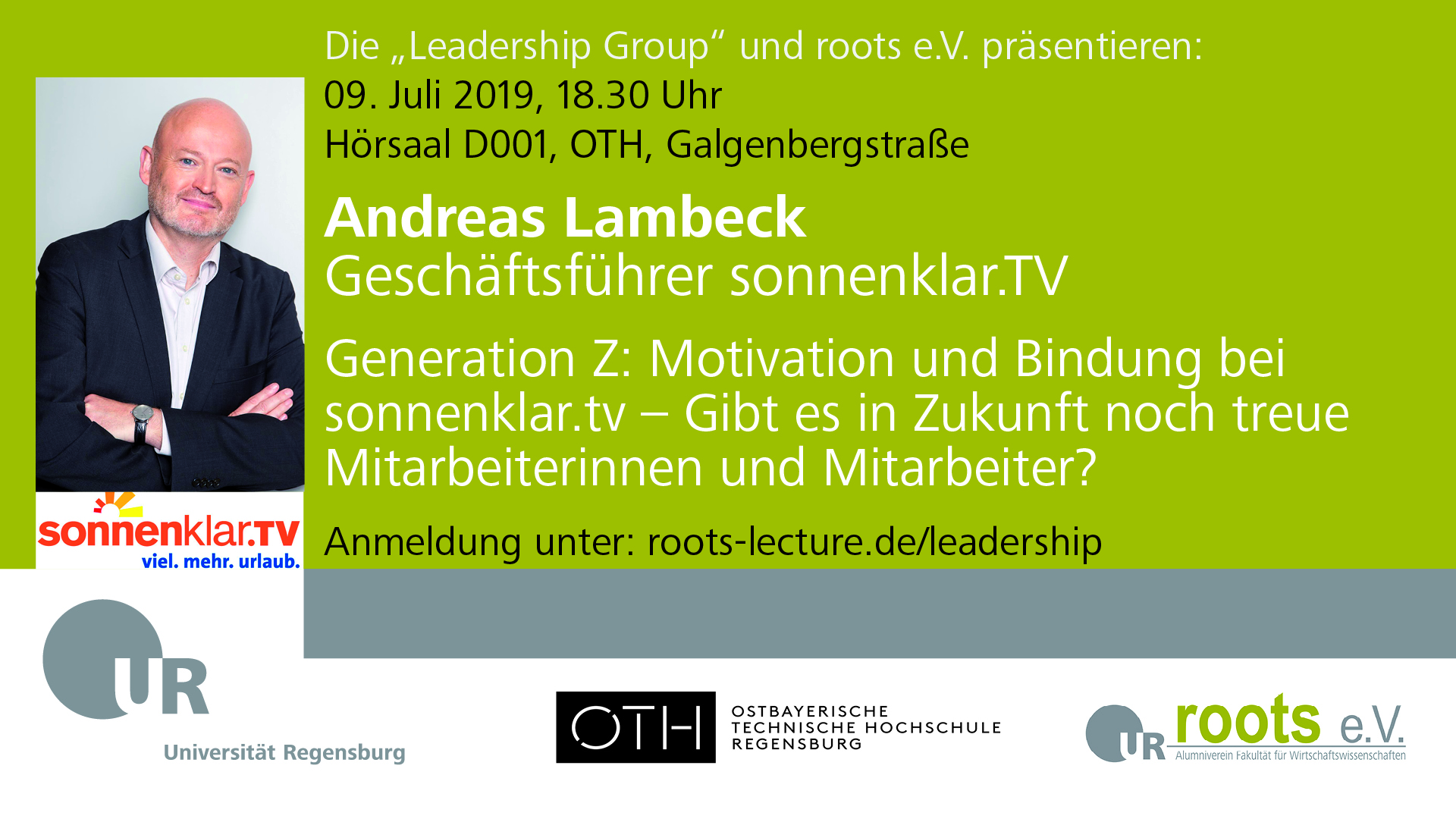 Lectures in Leadership mit Andreas Lambeck