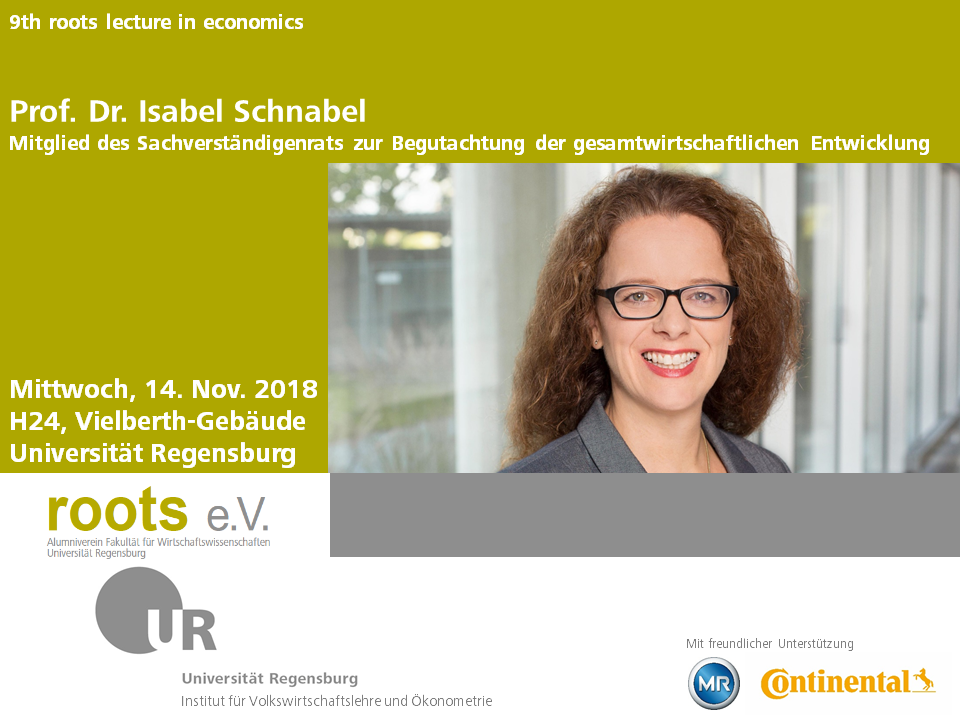 9th roots lecture in economics - Rückblick